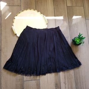 Victoria's secret pleated gem lace trim mini skirt